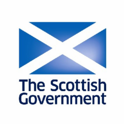 The Scottish Government logo which is a saltire